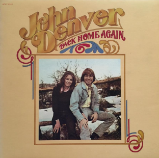 John Denver ‎- Back Home Again (LP) (EX/EX-)
